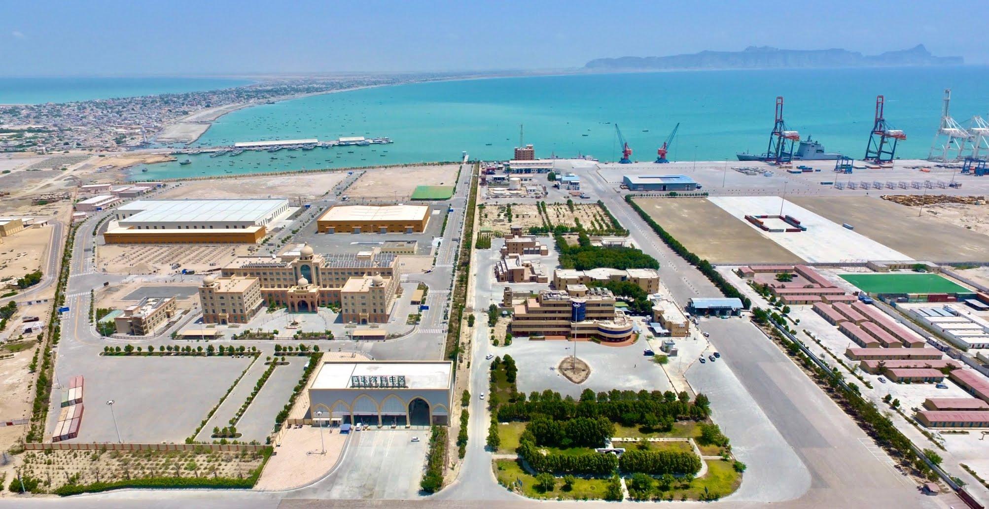 Aerial view of Gwadar port, Shabbir Ahmed